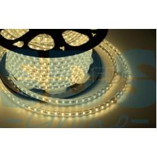 LED лента 220 В, 10х7 мм, IP67, SMD 2835, 60 LED/m, цвет свечения теплый белый, бухта 50 м