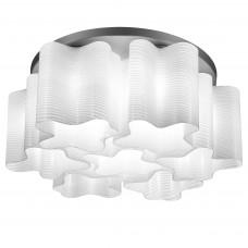 802071 (MC998-7А) Люстра NUBI ONDOSO 7х40W E27 хром/белый полосатый (в комплекте)