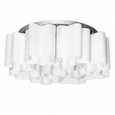 802090 (MC998-9A) Люстра NUBI 9х40W E27 белый/ хром (в комплекте)