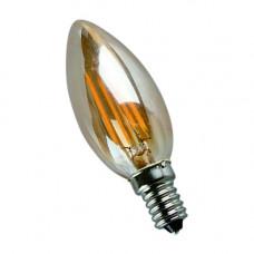 E14-5W-3000K Лампа LED (Свеча золото Филомент)